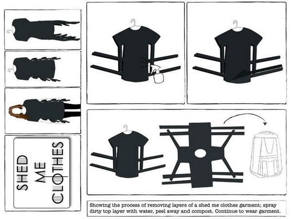 Концепт «линяющей» одежды Shed Me