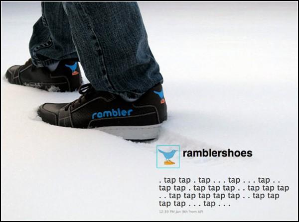 Кроссовки Rambler Shoes делают записи в микроблоге при каждом шаге