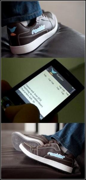 Кроссовки Rambler Shoes сделают запись в микроблог с помощью смартфона
