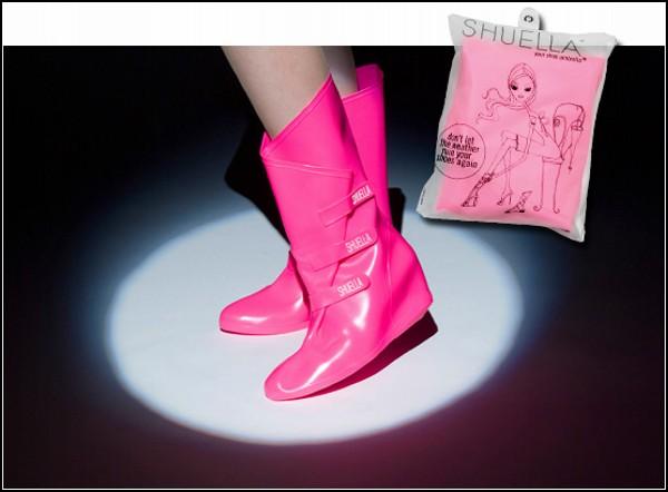 Обзор необычных галош и модных резиновых сапог: сапоги - чехол Shuella