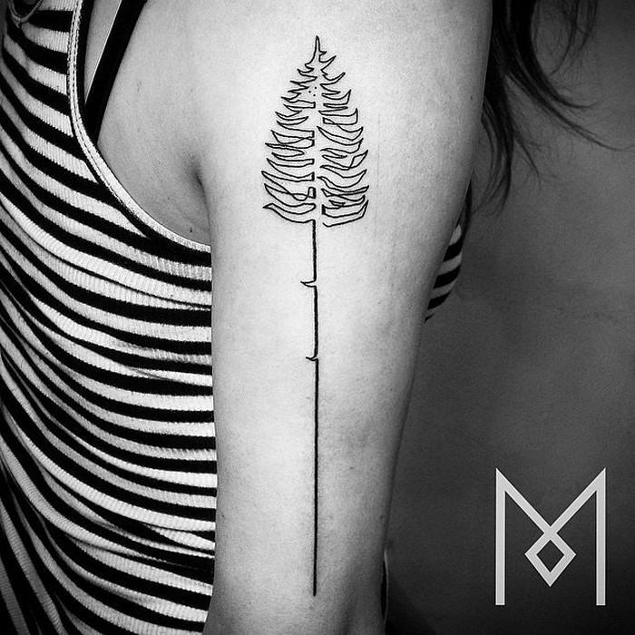 Простые татуировки Mo Ganji:  эту простую татуировку теперь пытаются повторить многие