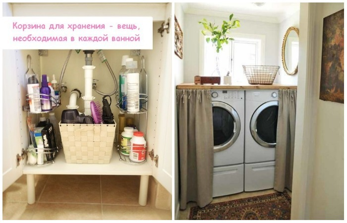 10 практичных идей, как использовать максимум пространства даже очень маленькой ванной комнаты