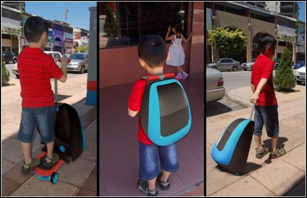 Обзор самых необычных рюкзаков: рюкзак-самокат