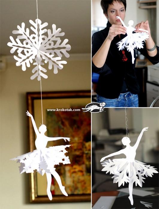 Как сделать удивительные снежинки-балерины