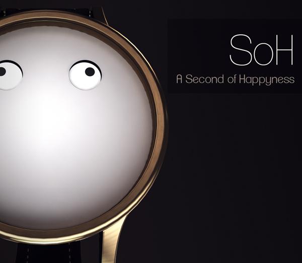 Эмоциональные часы с настроением Second of Happiness