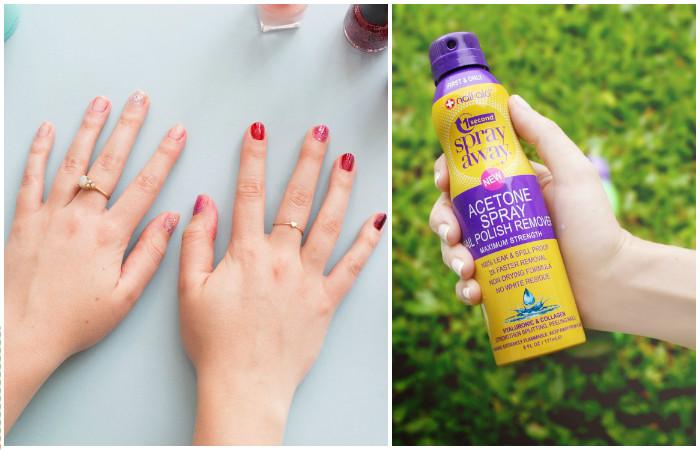 Spray Away от Nail-Aid – «инновационное» средство для удаления лака с ногтей в формате спрея