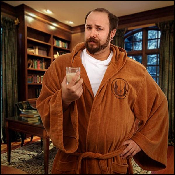 Мягкий велюровый халат для отдыха Джедая