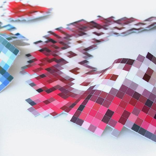 Коллекция пиксельных украшений от дизайн-студии Mike & Maaik