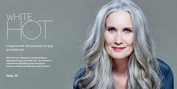 White Hot Hair – линия из 5 косметических продуктов специально для ухода за седыми волосами