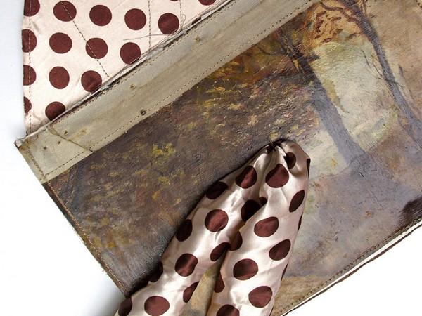 Аксессуары из старых полотен для истинных ценительниц прекрасного