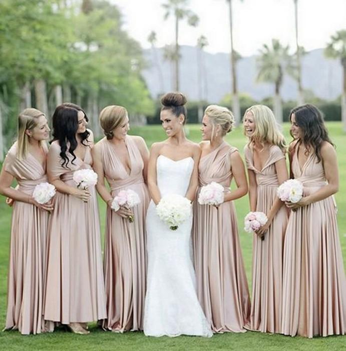 Нежный цвет – идеальный выбор для подружек невесты!