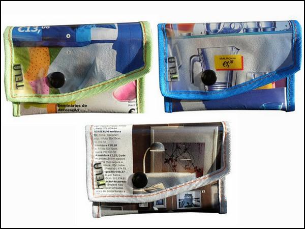 Сумочки, кошельки и клатчи из старых каталогов товаров IKEA