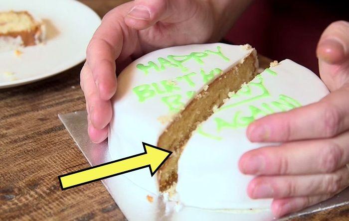 Шпионский способ нарезки торта.