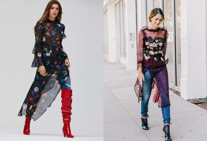 Большие тренды весны 2018: прозрачные платья.