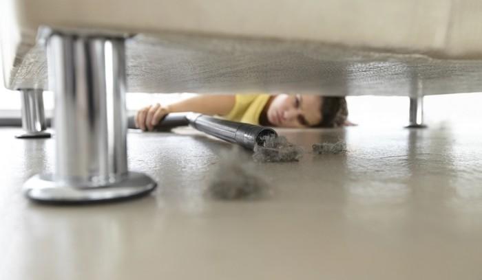 Требуют уборки только раз в год: под мебелью.