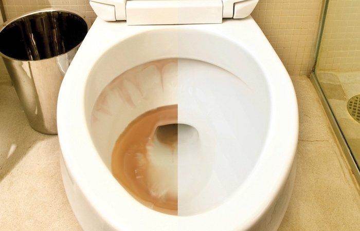 Простой способ победить ржавчину в ванной.