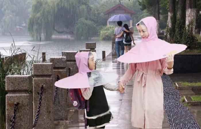 Umbrella raincoat, он же зонтодождевик, он же скафандр – хит продаж с aliexpress