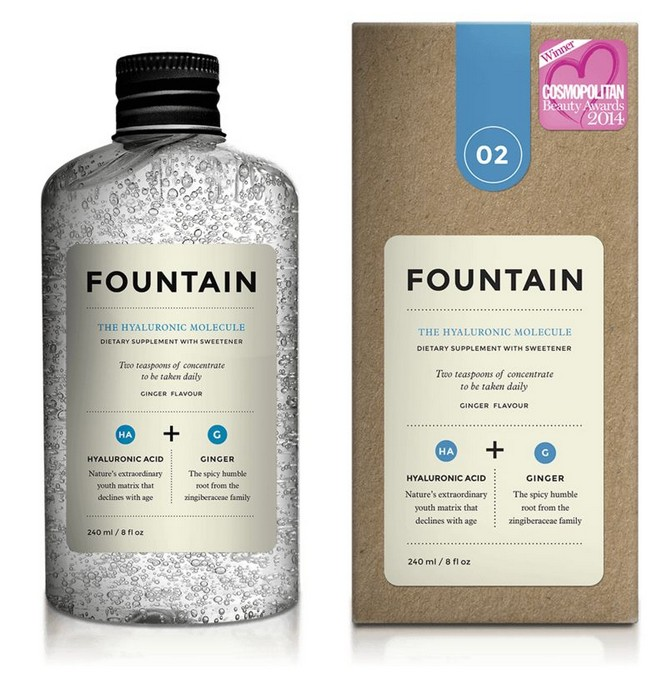 «Питьевой гилаурон» со вкусом имбиря от Fountain.