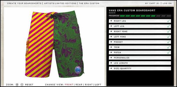 Бренд Vans позволит своим поклонникам заказать оригинальные летние шорты собственного дизайна