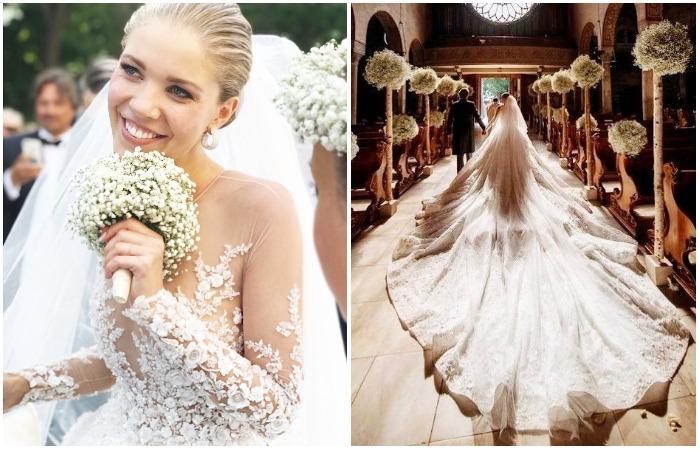 Свадебное платье наследницы династии Swarovski, поразившее своей роскошью