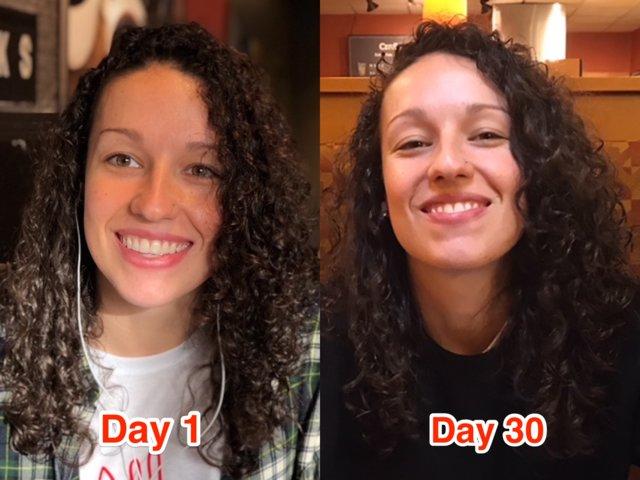 Состояние кожи с новой привычкой значительно улучшилось.