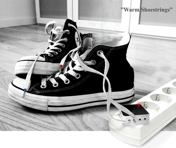 «Подогревающие» шнурки от Алексея Чугунникова