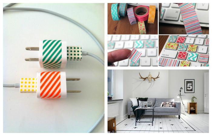17 крутых идей, как использовать цветной скотч