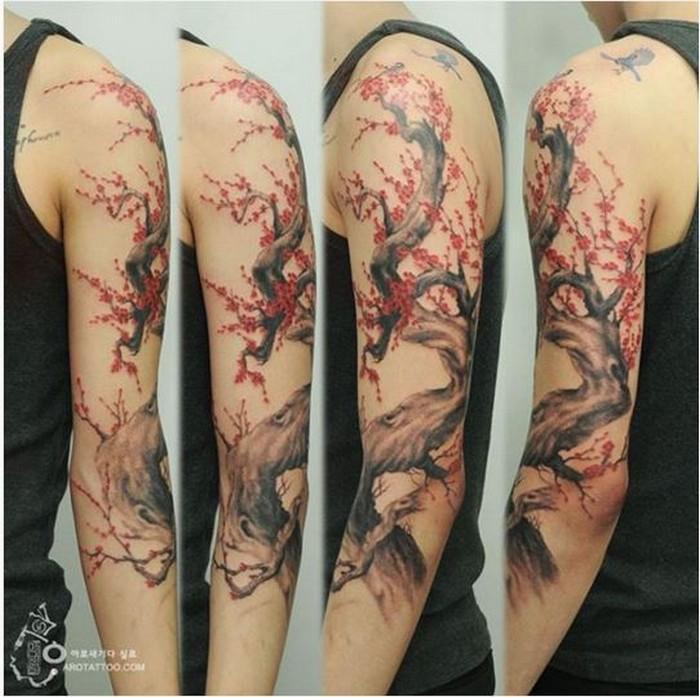Акварельные татуировки кореянки Silo