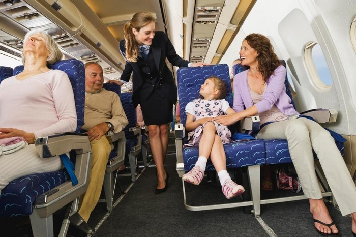 В случае «недобора» пассажиров вас могут попросить пересесть поближе к треугольникам.