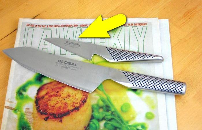 Как заточить нож с помощью вещи, которая точно есть дома у каждого.