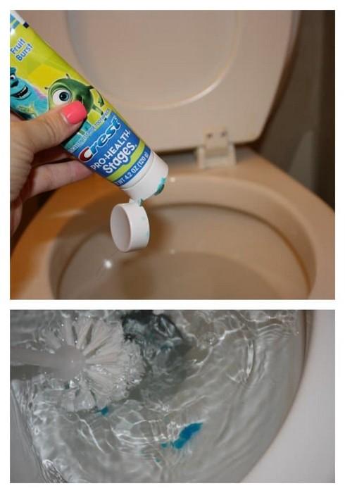 А некоторые умудряются даже унитаз почистить.