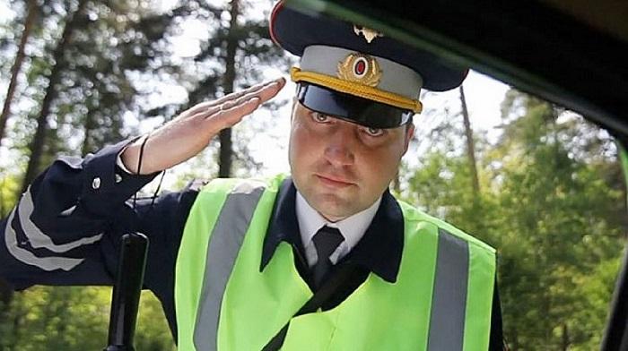 Общение с дорожной полицией.