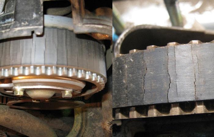 Если на ремне ГРМ появились трещины, его пора менять/ Фото: tarantas.news