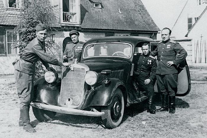 Трофейные машины из Германии.