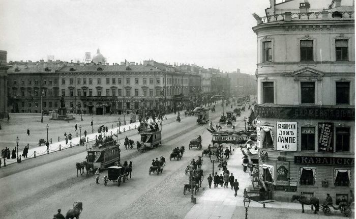 Санкт-Петербург начала прошлого века/ Фото: pikabu.ru