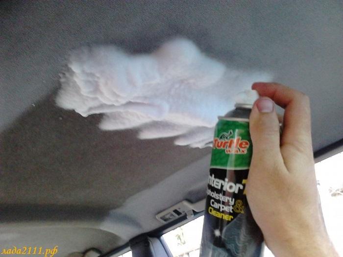 Что понадобится для очистки потолка?/ Фото: лада2111.рф