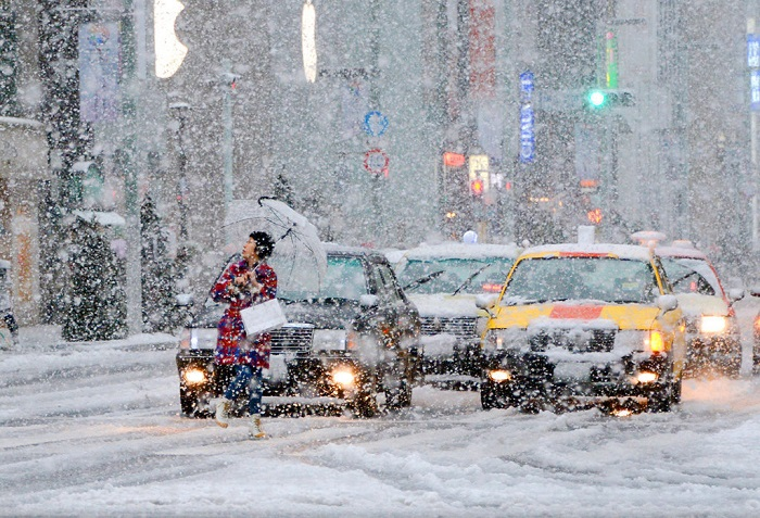 Непростые погодные условия Страны восходящего солнца/ Фото: fellowtraveler.ru