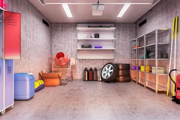Идеальный порядок в гараже/ Фото: gartenhaus-gmbh.de