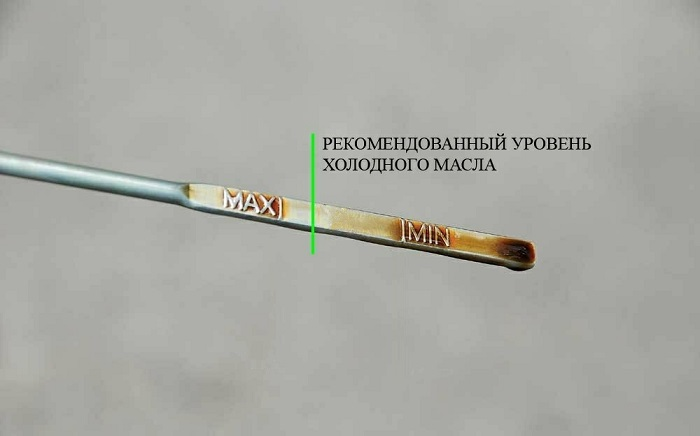 Уровень масла/ Фото: gtoil.ru
