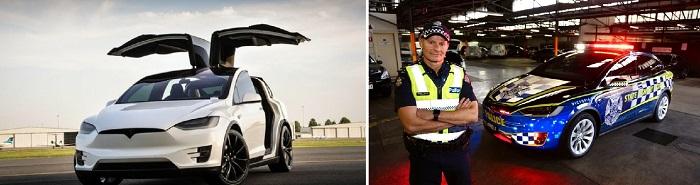 Электрическая Тесла для полицейских Австралии/ Фото: electrek.co