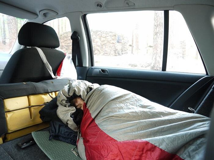 Ночевка в спальном мешке/ Фото: asx-club.su