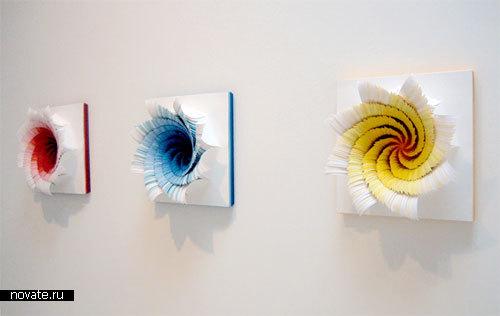 Бумажное искусство: Картины и скульптуры из цветной бумаги.