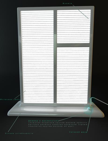Уникальный billy светильник в виде окна