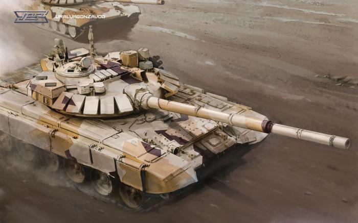 Модернизированный танк Т-72 с комплексом активной защиты «Арена-Э».