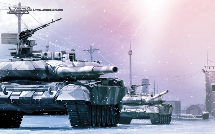 Танк T-90C. Танки Т-90 относятся к числу лучших в мире.