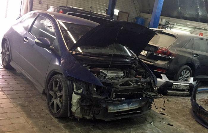 До обращения в Alfred Honda Civic простояла в гараже 7 месяцев.