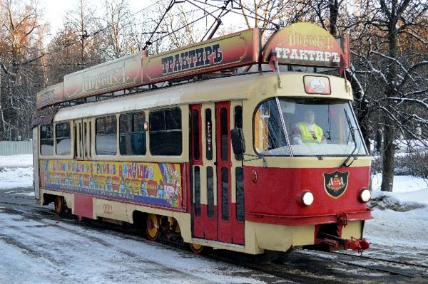 Трамвай-трактир «Аннушка» в Москве, Россия