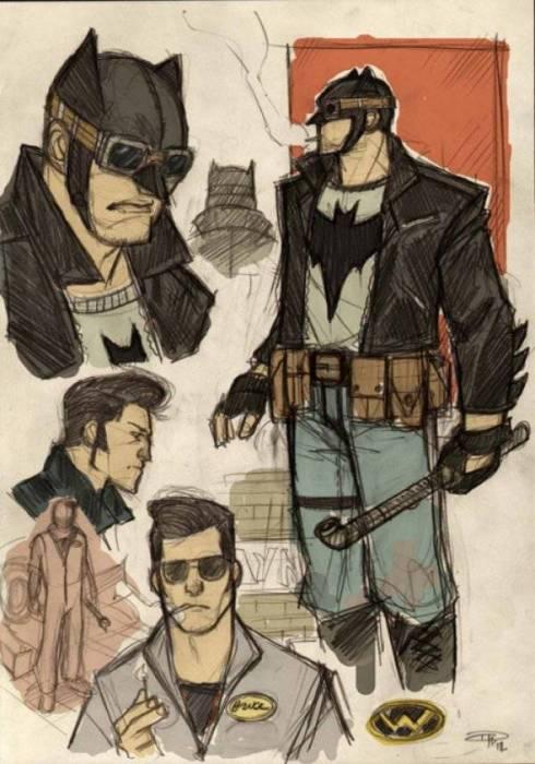 Бэтмен - уличный гонщик.