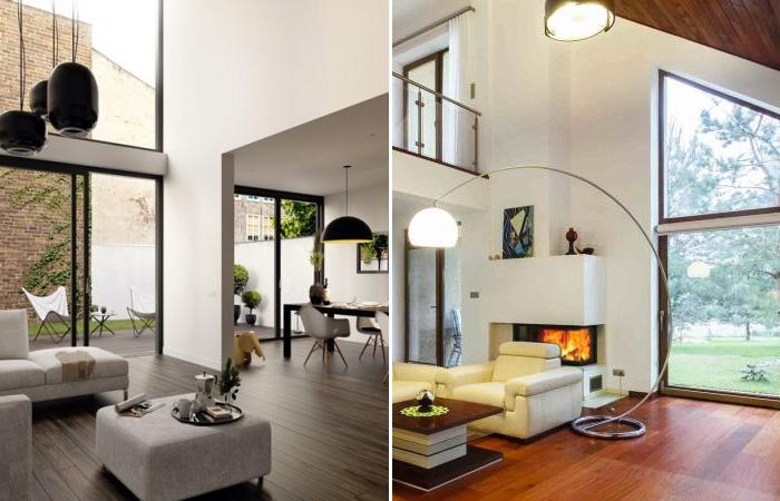17 оригинальных идей для оформления большой современной гостиной.