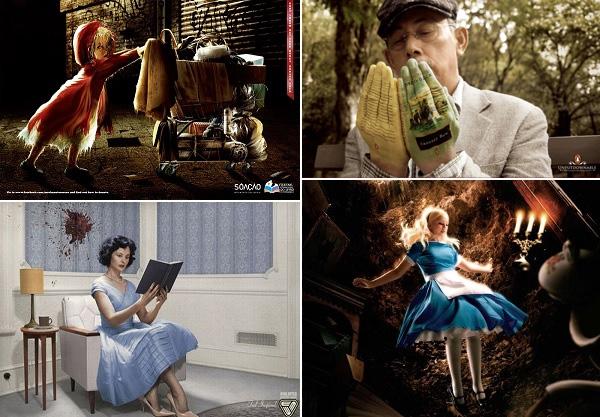 Занимайся чтением: обзор креативной рекламы бумажных книг